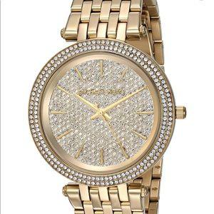 "Brand NWT and box Michael Kors ""Darci"" Gold watch"